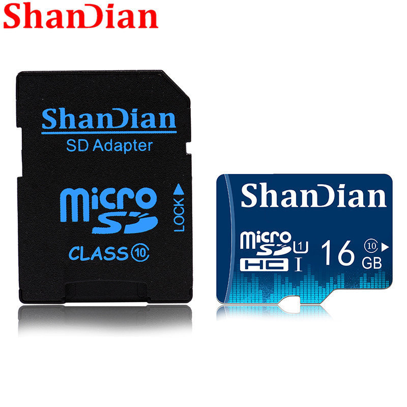 SHANDIAN Smart SD Card 32GB 16GB Memory Card 8GB 4GB Real Capacity Smartsd Class 6 Smartsd TF Card High Speed For Phone Camera