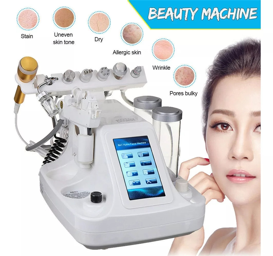 9 IN 1 Hydra Dermabrasion RF Bio-lifting Spa Facial Machine Water Oxygen Jet Hydro Diamond Peeling Microdermabrasion Device