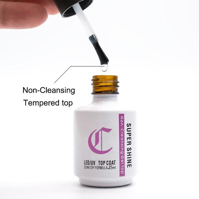 Soak off Gel Nail Polish Strong Base and Top Coat Semi Permanent UV Gel Polish 15ml Thick Rubber Base Gellac Manicure Primer New 4