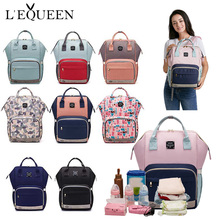 LEQUEEN Fashion Mummy Maternity กระเป๋าผ้าอ้อมกระเป๋าสะพายหลัง Designer Nursing BAG for Baby Care