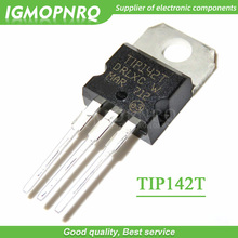 10 pçs tip142t tip142 15a/100 v darlington transistor para 220 npn novo original