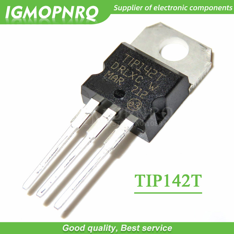 10PCS TIP142T  TIP142 15A/100V  Darlington Transistor TO-220 NPN  New Original