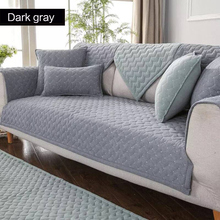 Cotton Sofa Cover Solid color Non-slip L Shaped Slipcover Protect Pet Dog cushion mat Anti-dirty sofa cover for 1-4 seats