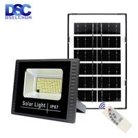 Lámpara LED de Panel Solar para jardín, reflector impermeable IP67, lámpara de pared con control remoto inalámbrico