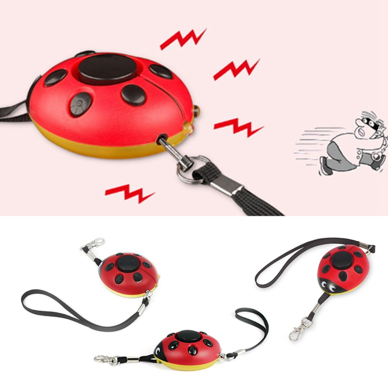 Self Defense Alarm 130dB Beetle Girl Women Security Protect Alert Personal Safety Alarms Scream Loud Keychain