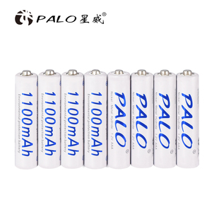 PALO 8pcs aaa rechargeable battery 1.2v 3a battery for remote control car camera shaver telephone flashlights(China)