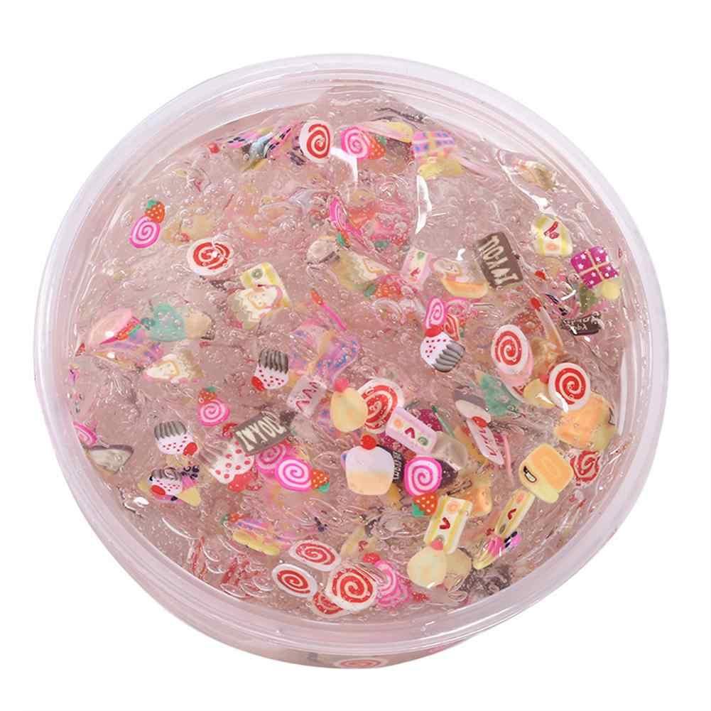 Kreative Nicht-klebrige Kristall Schlank Obst Ton Stress Entlasten Spielzeug Magische DIY Schlamm