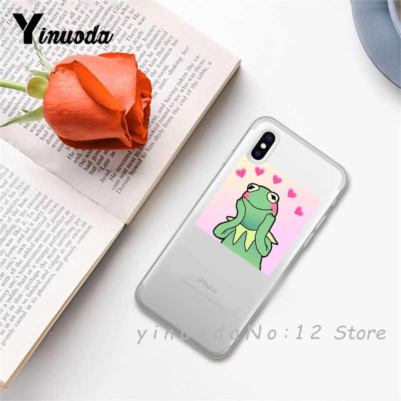 Yinuoda super cute cat dog cartoon pink Heart-shaped YOU&ME transparent phone case for iphone 6 7 8 Plus X XS XSMax 5s 11pro MAX