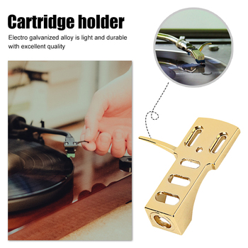 Uniwersalny gramofon do montażu na głowicy gramofonowej wymiana gramofonu uchwyt ze stopu aluminium akcesoria muzyczne tanie i dobre opinie CN (pochodzenie) Cartridge