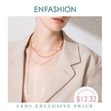 Enfashion boho двойная цепочка колье ожерелье для женщин Золотой