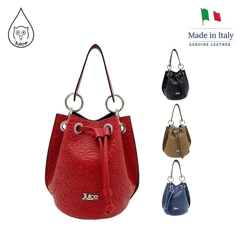 JUICE ,made In Italy, Genuine Leather, Women Bag,Women Handbag,addition Long Shoulder Strap 112162.412
