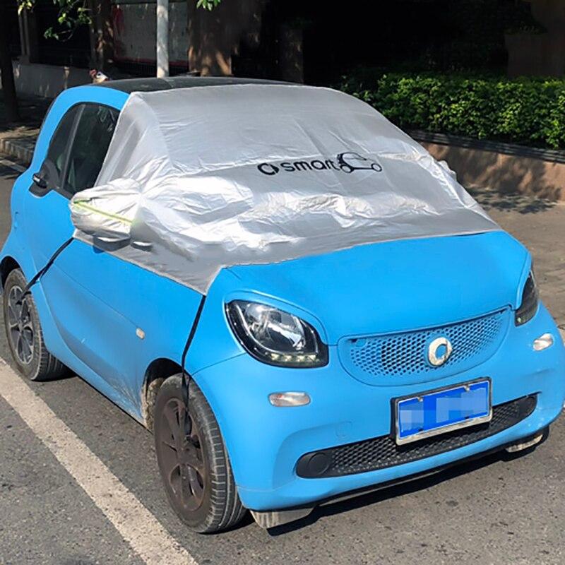 1set tamanho especial revestimento de proteção Solar Do Carro tampa do carro à prova de Poeira para 2009-2019 Mercedes-benz smart fortwo 453 forfour 451