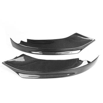 New 2x Real Carbon Fiber Car Front Bumper Splitter Lip Diffuser Spoiler For BMW 4-Series F32 F33 F36 428i 435i M-Sport 2014-2019 image