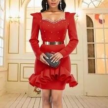 Женское рождественское вечернее платье кружевное лоскутное с