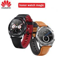 Huawei Honor Watch magia wodoodporna GPS NFC praca 7 dni wiadomość przypomnienie tętno Tracker sen Tracker 1 2 calowy ekran tanie tanio Android Wear Na nadgarstku Wszystko kompatybilny 128 MB Passometer Fitness tracker Uśpienia tracker Odpowiedź połączeń