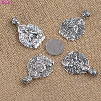 S990 sterling silver men's and women's pendant retro Thai silver craft  zodiac life Buddha eight Guardian pendants