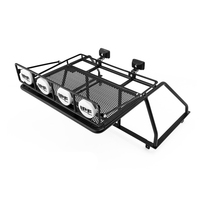 Rc Toys Car Metal Roll Cage W/ Roof Rack Sets Fit For 1/10 Scale Remote Control Toy Truck 4WD TF2 Mojave Upgrade Parts