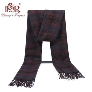 Image 5 - Кашемировый мужской шарф, зимний тёплый платок, клетчатые шарфы, модные повседневные шерстяные шарфы, Мужская Толстая шаль Sjaal, 2020