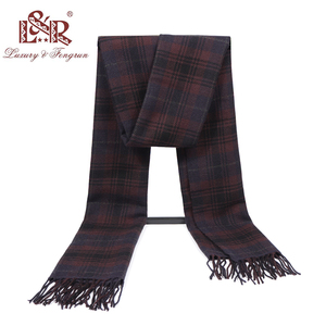 Image 5 - 2020 Cashmere Man Scarf Winter Warm Foulard Plaid Scarves Fashion Casual Scarfs Wool Bufandas Hombre Male Thickness Shawl Sjaal