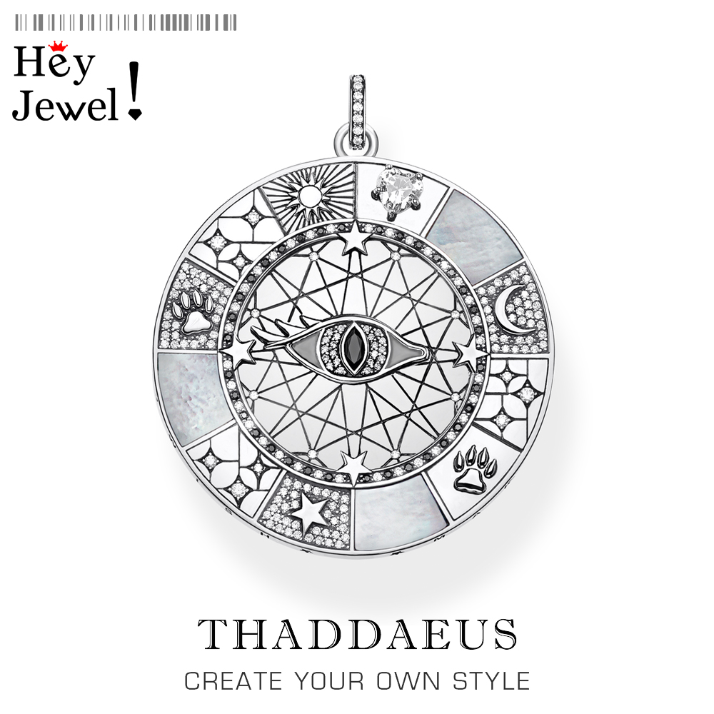 Pendant Amulet Mystical Symbols,2020 Fashion Jewelry Thomas Trendy Optimism Accessorie 925 Sterling Silver Gift For Ts Woman Men