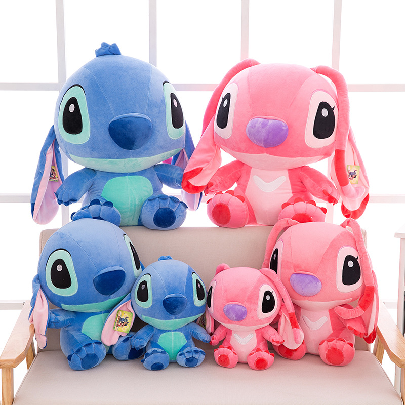 Disney Stitch Disney 35-80cm Giant Cartoon Lilo And Stitch & Peluche Stitch Plush Toy Doll Children Stuffed Toy Birthday Gift