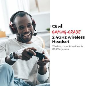 Image 2 - Mpow BH415 Игровая гарнитура 2,4 ГГц Беспроводные наушники 3,5 мм Проводные наушники с микрофоном с шумоподавлением Для ПК Gamer Для PS4 Xbox One