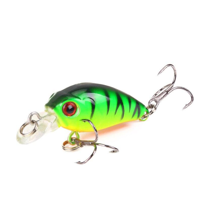 1 PCS Minnow Fishing Lure 45mm 3.8g Crankbait Hard Bait Topwater Artificial Wobbler Bass Japan Fly Fishing Accessories