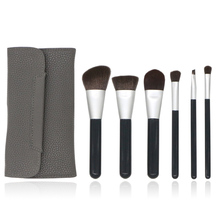 6Pcs Makeup Brushes Professional Cosmetics Brush Set Scattered Powder Brush Foundation Brush PU Soft Makeup Bag stylish 18 pcs portable fiber makeup brushes set with pu brush bag