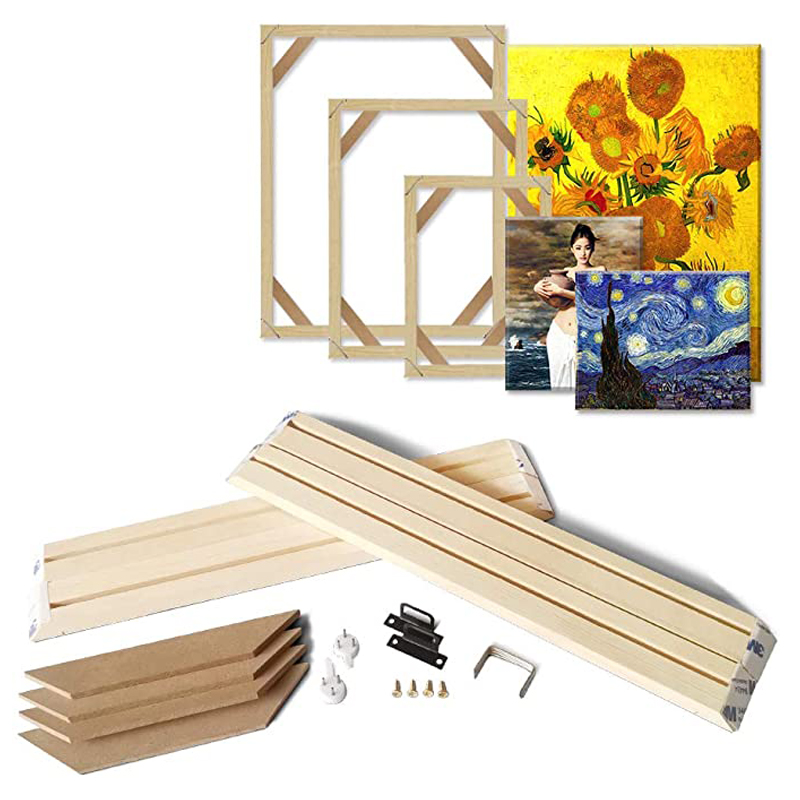 Diy Wood Frame for Canvas Oil Painting  Wall Art Customized Wooden Stretcher Bars Multiple Sizes Diamond Paintings Home Decor