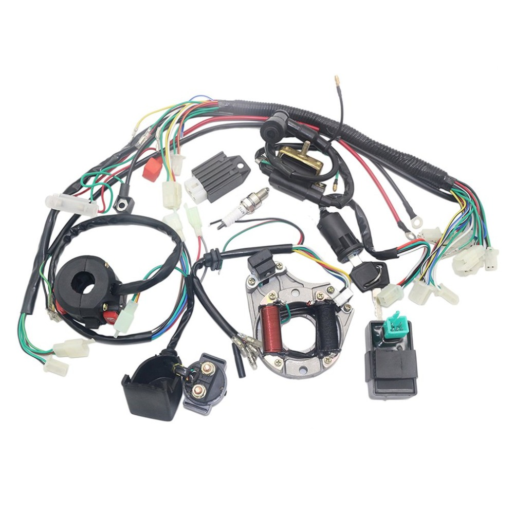 Electrics Stator Coil CDI Wiring Harness for 4 Stroke ATV KLX 50cc 70cc 110cc <font><b>125cc</b></font> Quad <font><b>Bike</b></font> Buggy Go Kart <font><b>Pit</b></font> Dirt <font><b>Bikes</b></font> image