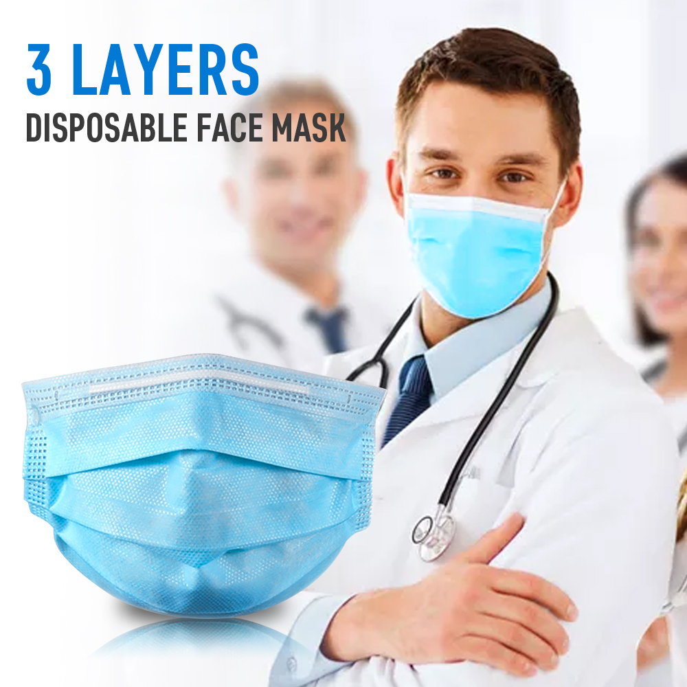 30pcs/Lot Safe Surgical Mask Anti Dust 3 Layer Non-woven Disposable Breathable Face Mouth Mask Anti Pollution/Germ/Coronavirus