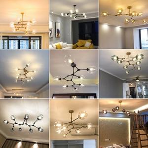 Image 4 - Dropshipping nórdico moderno pingente luzes designer de vidro pedante lâmpadas arte decoração luminárias para barra jantar sala estar