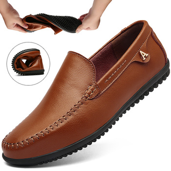 New Handmade Man Casual Shoes Men Genuine Leather Men business Moccasins Dress Shoes Flats Comfy Driving Boat Sneaker Big Size