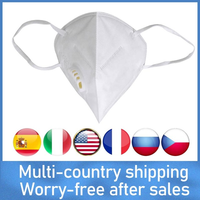 Free Shipping 5/10pcs N95 FFP3 FFP2 Mask 5 Layer Flu Anti Fog Protective Masks Respirator PM2.5 Safety Protection Wholesale
