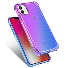Phone Case For iPhone 7 Case iPhone XR X XS Max 8 7 6s Plus 5S Case Silicon Transparent Soft Back Cover For iPhone 11 Case цена