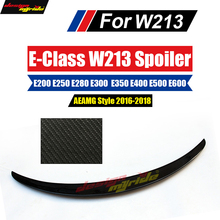 W213 Spoiler Rear Wing Carbon fiber spoiler Replacement AEAMG style for Mercedes E Class E200 E250 E300 E350 E400 2016-in
