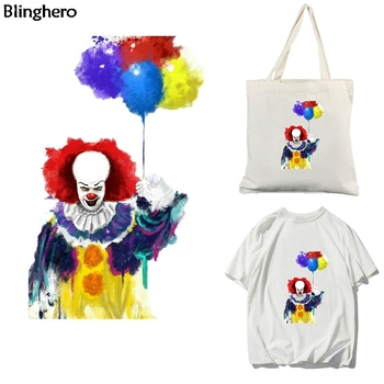 Blinghero Horror Ghost Heat Transfer Patch Cartoon Clown Thermal Cool Iron-on Fashion Clothing Accessory BH0570
