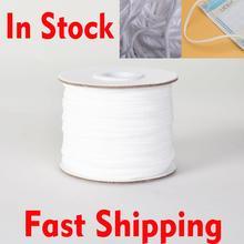 Круглая форма белый эластичный Канат 3мм 30 ярдов ленты стяжного хомута одежды швейные DIY ремесла одежда аксессуары