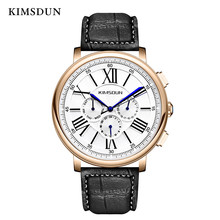 цена на Top Luxury Relogio Masculino Watch Men multi-function three-eye automatic mechanical watch casual new fashion leather strap