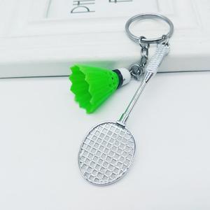 Мини ракетка для бадминтона шары спортивный брелок-подвеска 3D брелок кольцо автомобильная сумка Подвеска кольцо для ключей с подвеской DIY ювелирные изделия