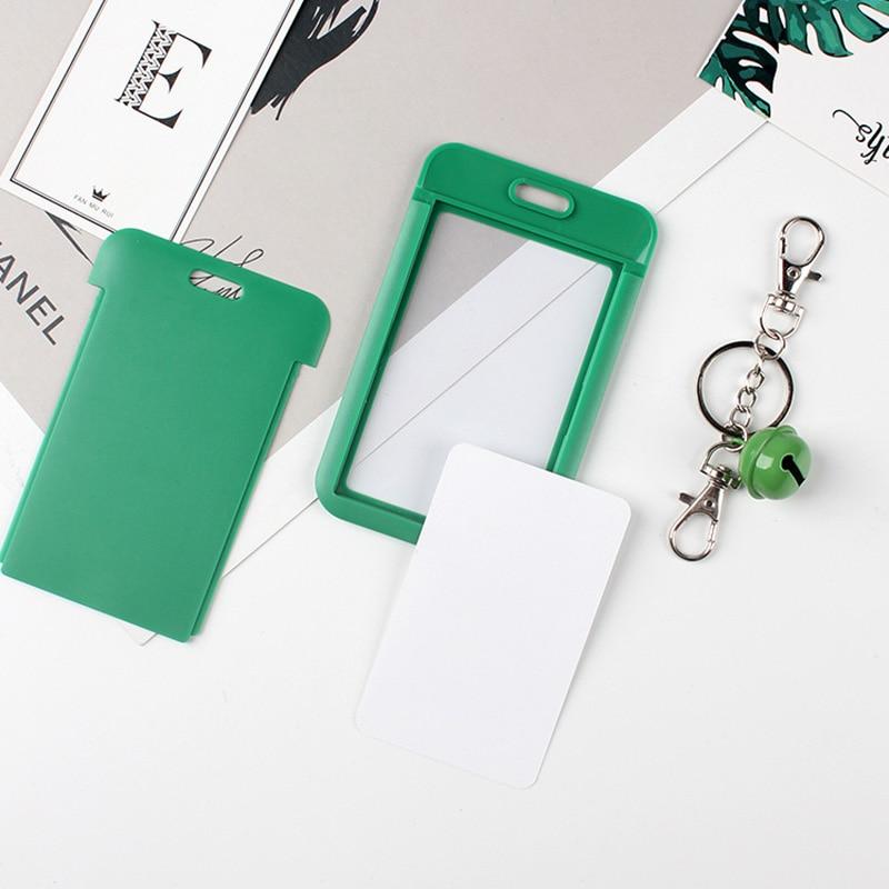 1 PC Bank Credit Card Holder Bus ID Cards Holders Women Men Fashion Card Bags Keychain Cute Cartoon Card Case Key Chain Ring (22)