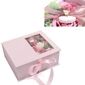 Caja de regalo de flores artificiales, jabón creativo de rosas, caja de regalo de flor de jabón, caja sorpresa hecha a mano, regalo de cumpleaños del Día de San Valentín