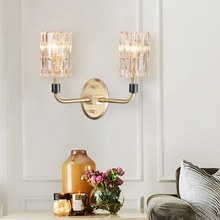 Modern LED Crystal Wall Lamp Copper Wall Sconce Lamps Bedroom Aisle Dining Living Room Bedside Hotel Kitchen Fxtures Wall Lights цена 2017