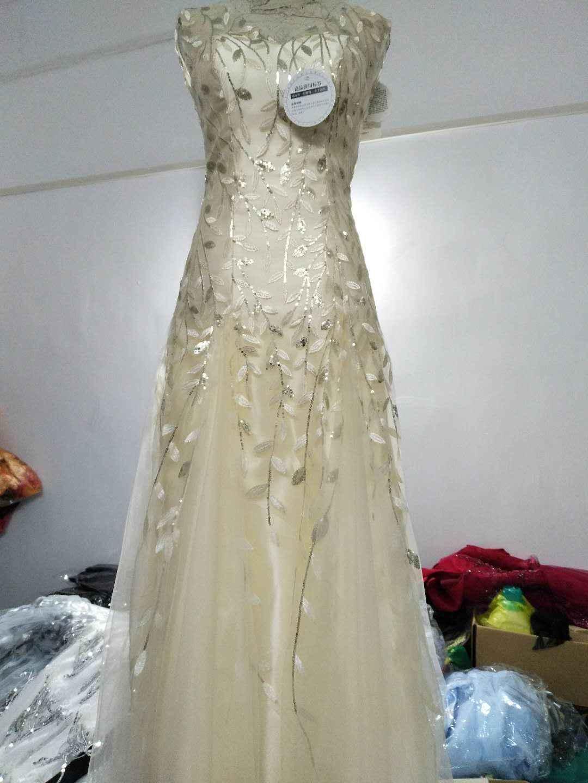 Robe de soiree paillettes abito da sera per le donne Appliques Con Scollo A V di lavoro pesante in rilievo grigio vestito lungo vestidos de fiesta de noche