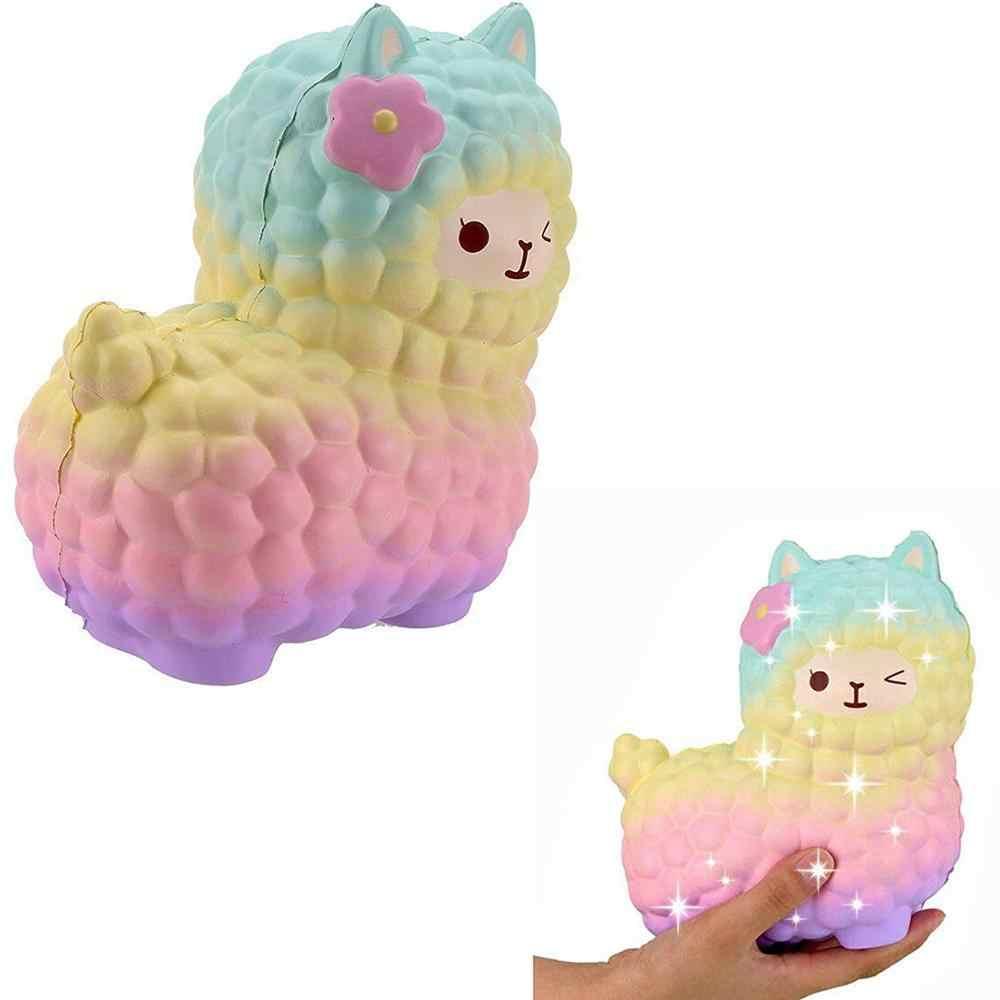 점보 양 알파카 Squishy 귀여운 은하 천천히 상승 짜기 장난감 동물 Squishy Squish 도매 스트레스 릴리프 절묘한 아이 선물