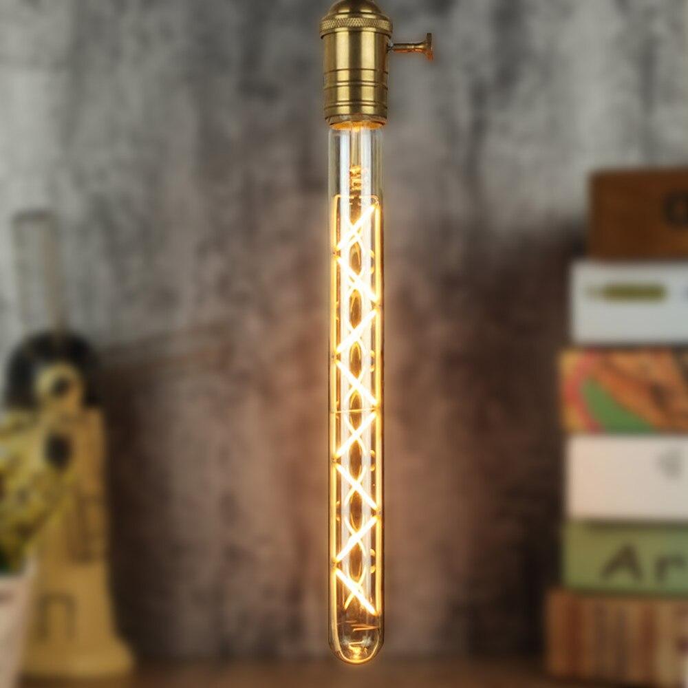 TIANFAN T300 Long Tube Bulb Edison bulb Led E27 220V 6W Zigzag Dimmable Warm White Decorative Light Bulb