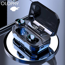 Tws наушники g02 с поддержкой bluetooth 50 и светодиодным дисплеем