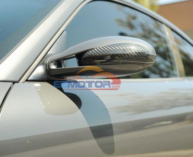 Reak Carbon Fibre Tape-On Mirror Covers 1pair For 2005-2012 Porsche 911 997 987 Carrera 2005-2012 T051M 2