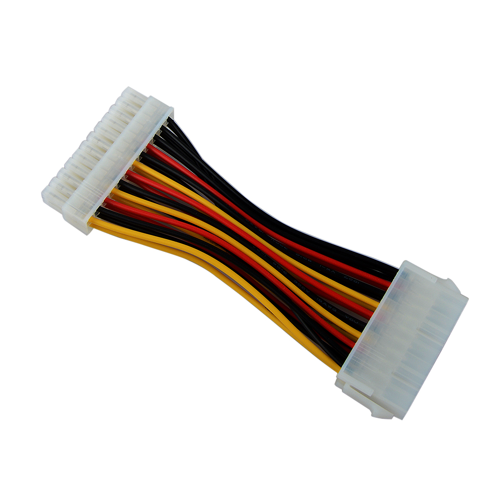 1pcs 20pin Male to 24pin Female Adapter Cable Plastic 20 <font><b>Pin</b></font> to 24 <font><b>Pin</b></font> Connector Adapter Cable ATX Connector image