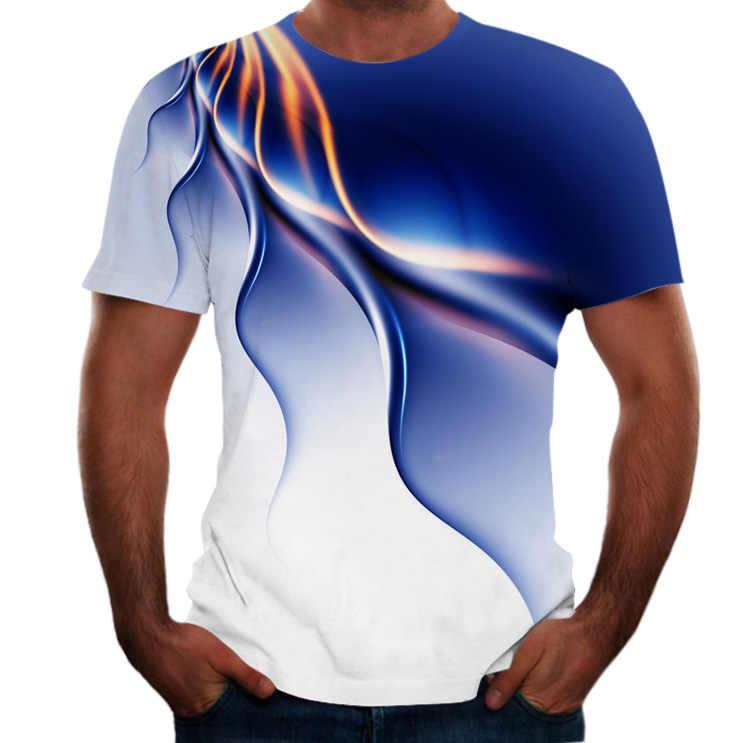 NISIVEY popüler erkekler gömlek kısa kollu 3D baskılı Psychedelic T-shirt benzersiz çizgi T-shirt gevşek o-boyun yaz erkek giysileri